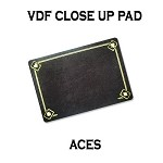 VDF Close Up Pad with Printed Aces (Black) by Di Fatta Magic-Trick