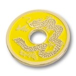 Chinese Coin (Yellow - Half Dollar Size) by Royal Magic - trick