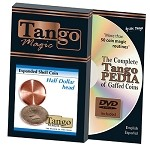 Expanded Shell Half Dollar (Head w/DVD) D0001 by Tango Trick